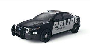 3D taurus police interceptor model