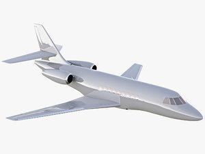 dassault falcon 2000 private jet 3D