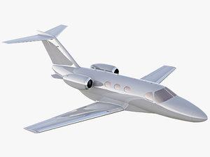 3D cessna citation mustang private jet model