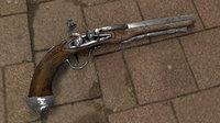 3D model flintstock gun