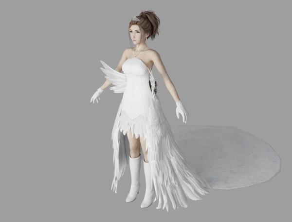 yuna wedding 3D model