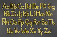 rusty metal alphabet letters 3D