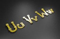 uvw rusty metal alphabet letters 3D model