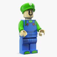 3D luigi lego figure