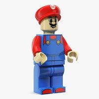 3D model mario lego figure