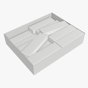 gum chewing pack 3D model