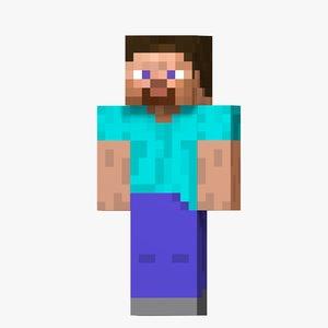 steve character minecraft 3D