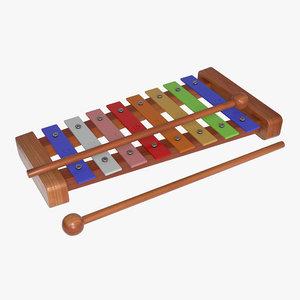 3D xylophone rainbow