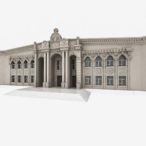 3D university building
