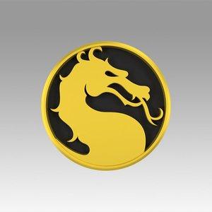 3D model mortal logo