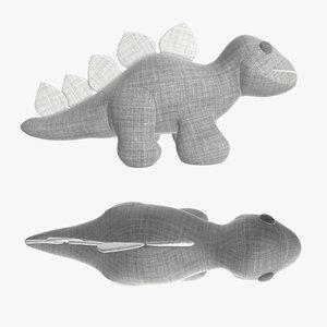dinosaur toy plush 3D model