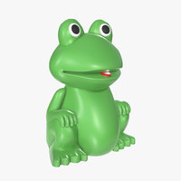 frog green toy model