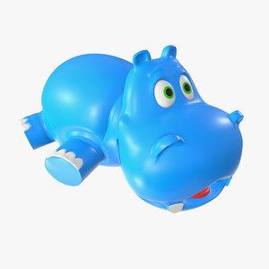 toy hippo 3D model
