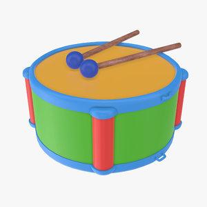 3D toy drum stick