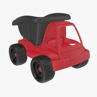 toy truck dump 3D model