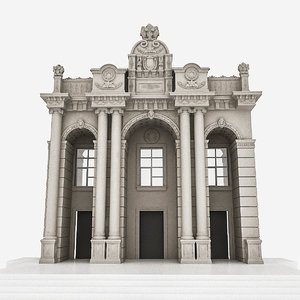 classic building door 3D model