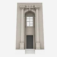 3D classic building door