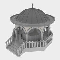 3D mosque fountain