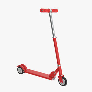 kick scooter red 3D