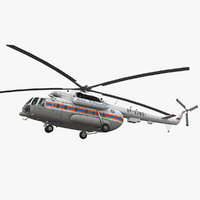 3D mi-8mtv russian emercom mi-8 model