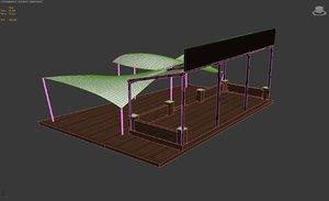 patio tent 3D