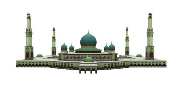 3D mosque pekanbaru indonesia