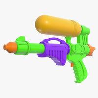 toy gun water 3D