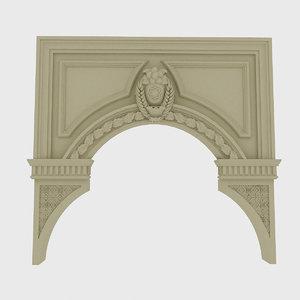 classical door necessary projects 3D model