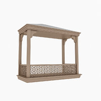 wooden balcony 3D model