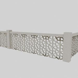 hexagon railing 3D model