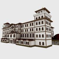 classic wood hotel 3D