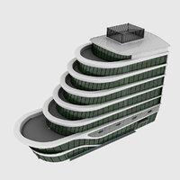plaza building 3D model