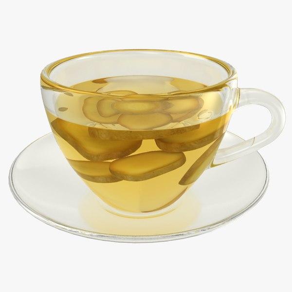 realistic ginger tea 3D