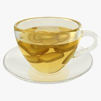 realistic ginger tea 3D