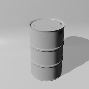 turbosmooth oil drum barrel 3D model