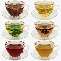 realistic green tea 3D