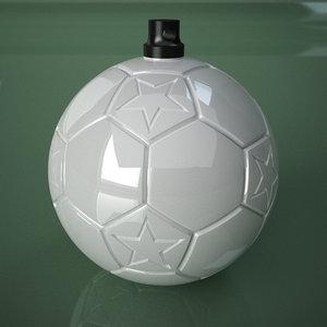printable soccer ball star 3D model