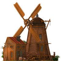 building milling architecture 3D model