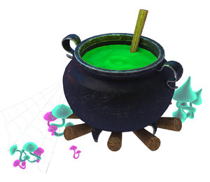 3D model vat potion halloween