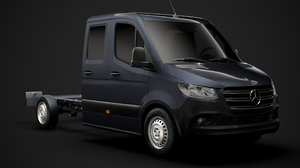 3D mercedes sprinter chassis crew