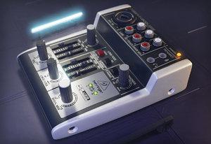behringer xenyx 3D model