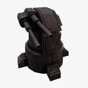 laser turret 3D model