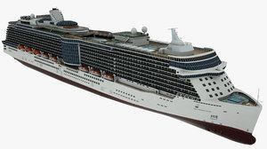 cruise vessel sky princess 3D model