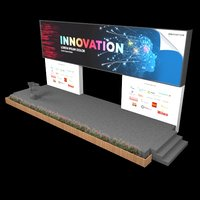 3D tech stage backdrop
