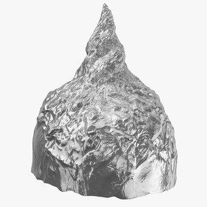 3D tin foil hat model