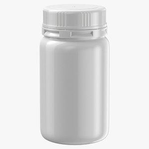 plastic jar 300ml 3D