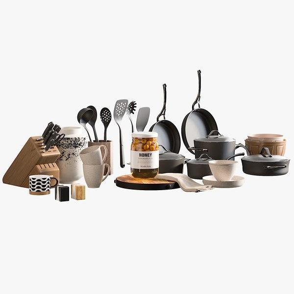 3D realistic kitchen accessories 3 model