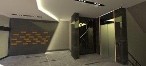 building entrance 3D