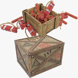3D tnt box v2 model