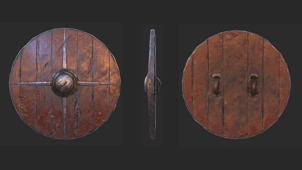 viking historical shield 3D model